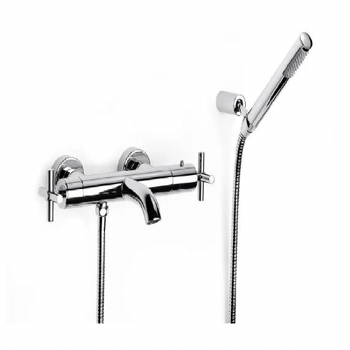 Roca Loftt Wall Mounted Thermostatic Bath Shower Mixer Tap With Kit